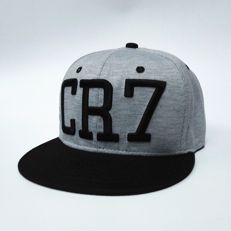 2017 new Cristiano Ronaldo gray CR7   Baseball     Caps   hip hop Sports Football hat men&women Snapback   cap