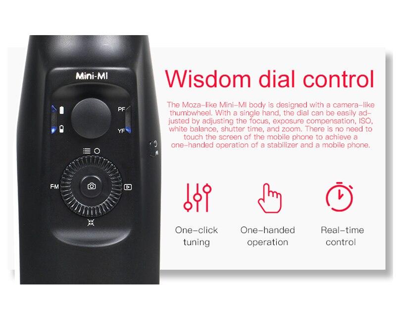 MOZA Mini Mi Mini-Mi 3-Axis Handheld Gimbal Stabilizer for iPhone 8 Plus Samsung S9 Gopro PK Zhiyun Smooth 4 DJI Osmo mobile 2
