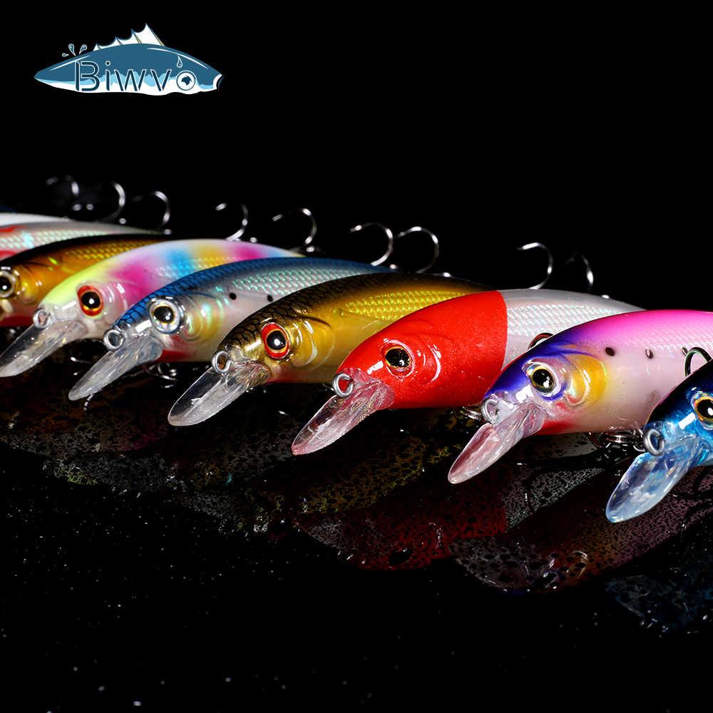 Biwvo Minnow Lockt Metall Tintenfisch Harte Waren Für Angeln Leucht swimbait Sea River Shad Wobbler Für Trolling Squid Fische Locken