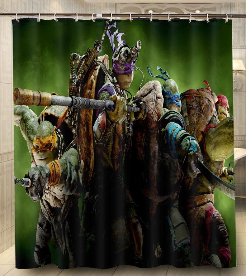 Cartoon Teenage Mutant Ninja Turtles Modern Classical Custom Shower Curtain  Waterproof 160x180cm bathroom Curtain With Hooks - Online Get Cheap Turtle Shower Curtains -Aliexpress.com Alibaba