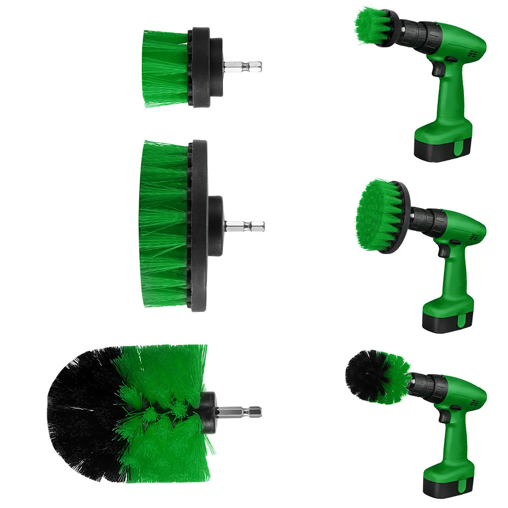 3pcs Drill Brush Kit Grout Power Scrubber Cleaning Brush