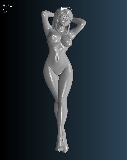High Quality 3D Carved Figure Sculpture 3d Model For Cnc Machine In STL File Format Nude Women 2