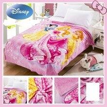 Princesa de Disney Blancanieves Bella manta enredada lanzar fundas para dormir suave ligera fina manta de aire acondicionado de verano