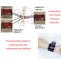 ATANG Watch Laser Tens Acupuncture Therapy Cure Diabetes Rhinitis Tinnitus Laser Watch Physical Device Cardiovascular Disease