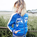 2016 winter Jacket Women down Jackets national embroidery Down parka thin Jackets short down coat fashion slim Women's outerwear