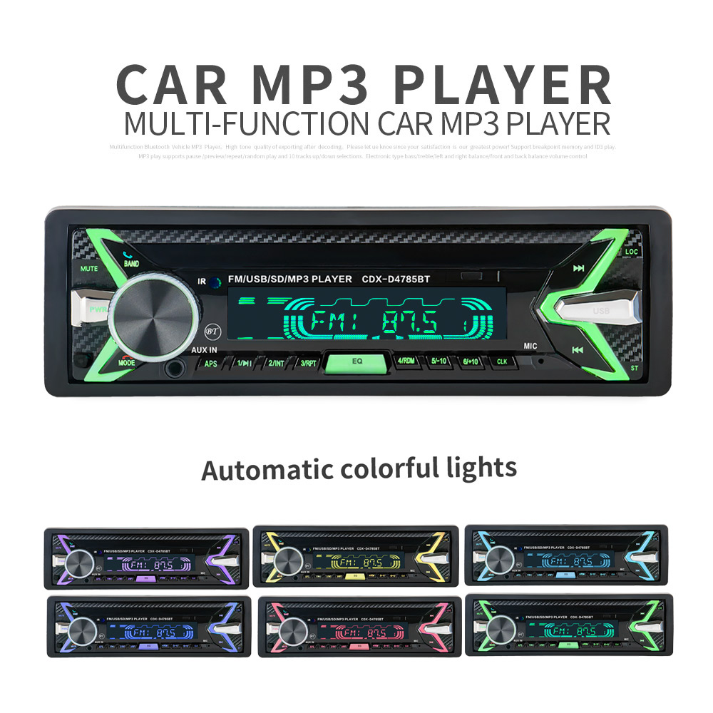Bluetooth Universal Detachable Panel Car MP3 Player <font><b>Radio</b></font> Stereo Audio Player Remote Control USB / SD / MMC Card Reader image