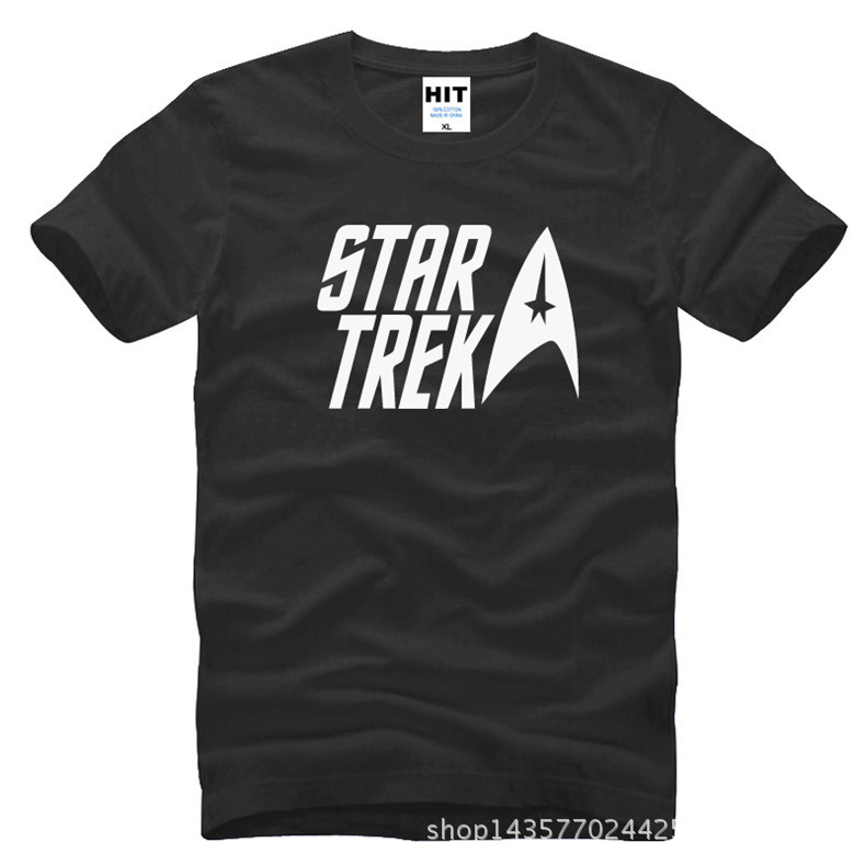 classic movie Star trek Printed Mens Men T Shirt Tshirt Fashion 2015 New Short Sleeve O Neck Cotton T-shirt Tee Camisetas Hombre