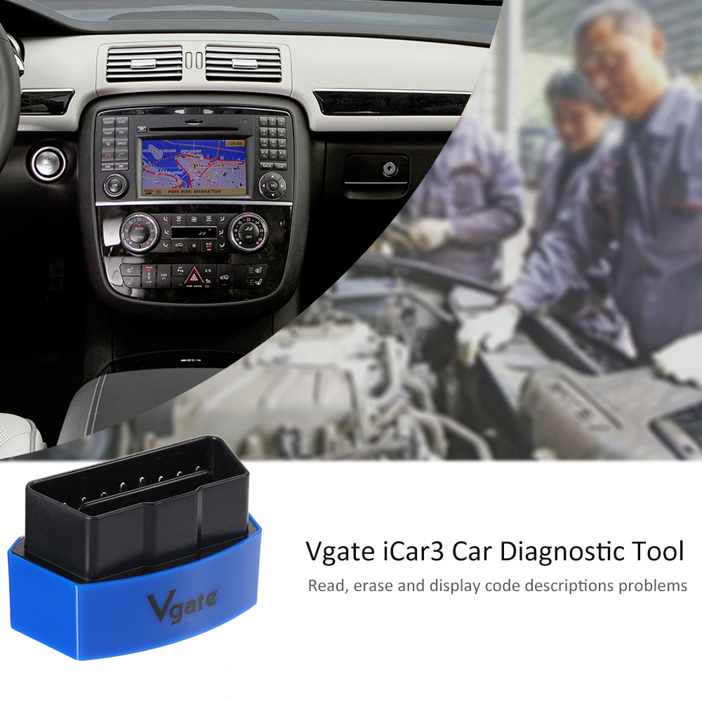 Vgate iCar3 BT OBD2 Diagnostic Interface For Android /IOS/PC WIFI Connect
