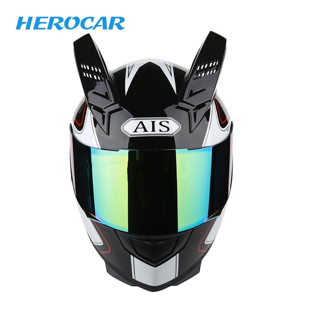 Casque moto rcycle casque moto vélo cascos para moto avec pare-soleil intérieur Double lentille modulaire moto cross casque intégral