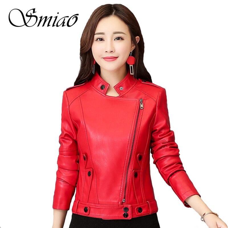 2019 New Fashion Spring Women Faux   Leather   Jackets Plus Size 4XL Black Zipper Basic Coat Biker Jacket Women's   Leather   Jacket