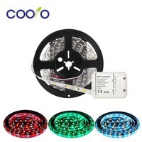 DC 12V 24V 5M LED Strip Light RGB CCT 5050 SMD Led Tape Non waterproof Led Stripe Light + WiFi Controller
