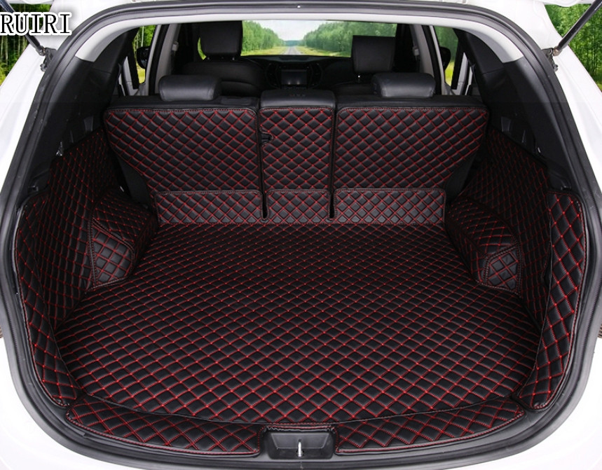 Top quality! Special car trunk mats for Hyundai Santa fe 5 seats 2017 2013 durable cargo liner mat boot carpets for Santafe 2015