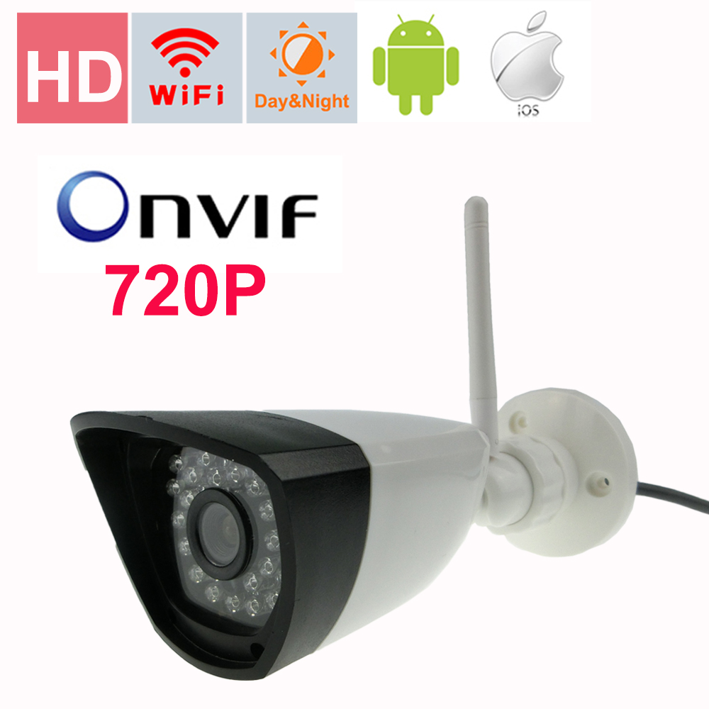 720p wifi camera mini Bullet Waterproof Night Outdoor Security Camera ONVIF P2P CCTV Cam with IR-Cut 64G TF card slot wifi bullet ip camera waterproof 18led ir night vision outdoor security camera onvif p2p cctv cam with ir cut