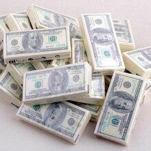 Рулоны банкнот носовые платки доллар бумажные творческая личность полотенца ткани печати
