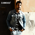 SIMWOOD 2017 Spring New Arrival Denim Jacket  Men Slim Fit Cotton Brand Clothing Vintage Brand Clothing NJ6524