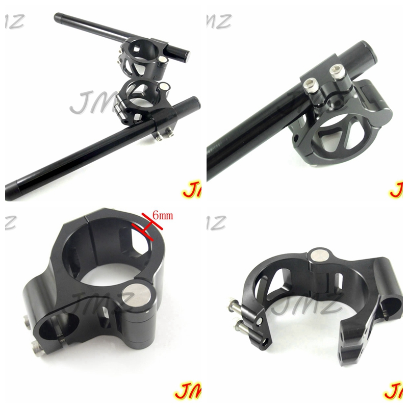 Motorcycle Racing CNC Clip On Handle Bars For KTM RC390 2014 2017 Clip On Handle Bars