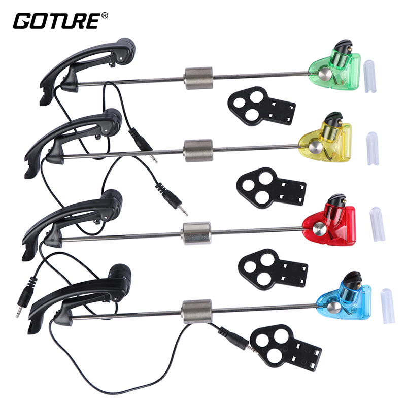Goture 4ks / lot Sounder Fishing Swinger Carp Swinger Bite Alarm - Rybaření