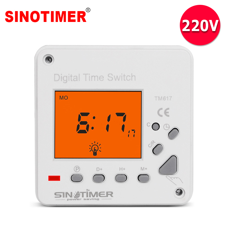 230Vac Super Large LCD Display Back-light 7 Days Weekly Digital Electronic Timer Lighting Switch with backlight and cover цена