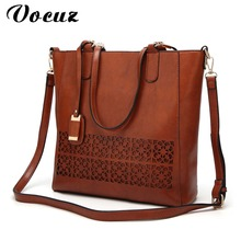 Handbags Women Bags Designer High Quality Leather Women Bag Hollow Big Solid Women Shoulder Bags Large Capacity Tote Bag