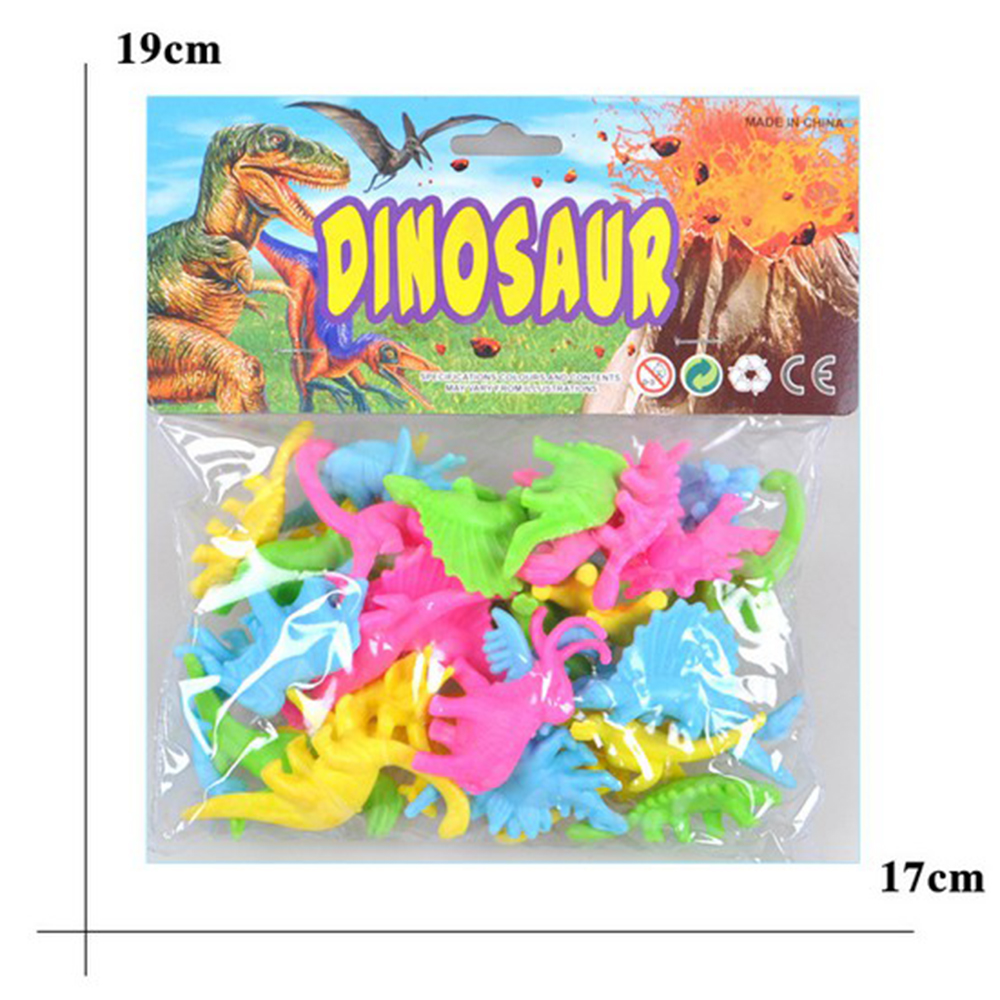 32pcs/lot Dinosaur Plastic Candy color Toy Set Dinosaur Model Action and Figures Best Gift For Children 12pcs set dinosaurs plastic model children simulation animal solid soft dinosaur action figures toys gift for kids e
