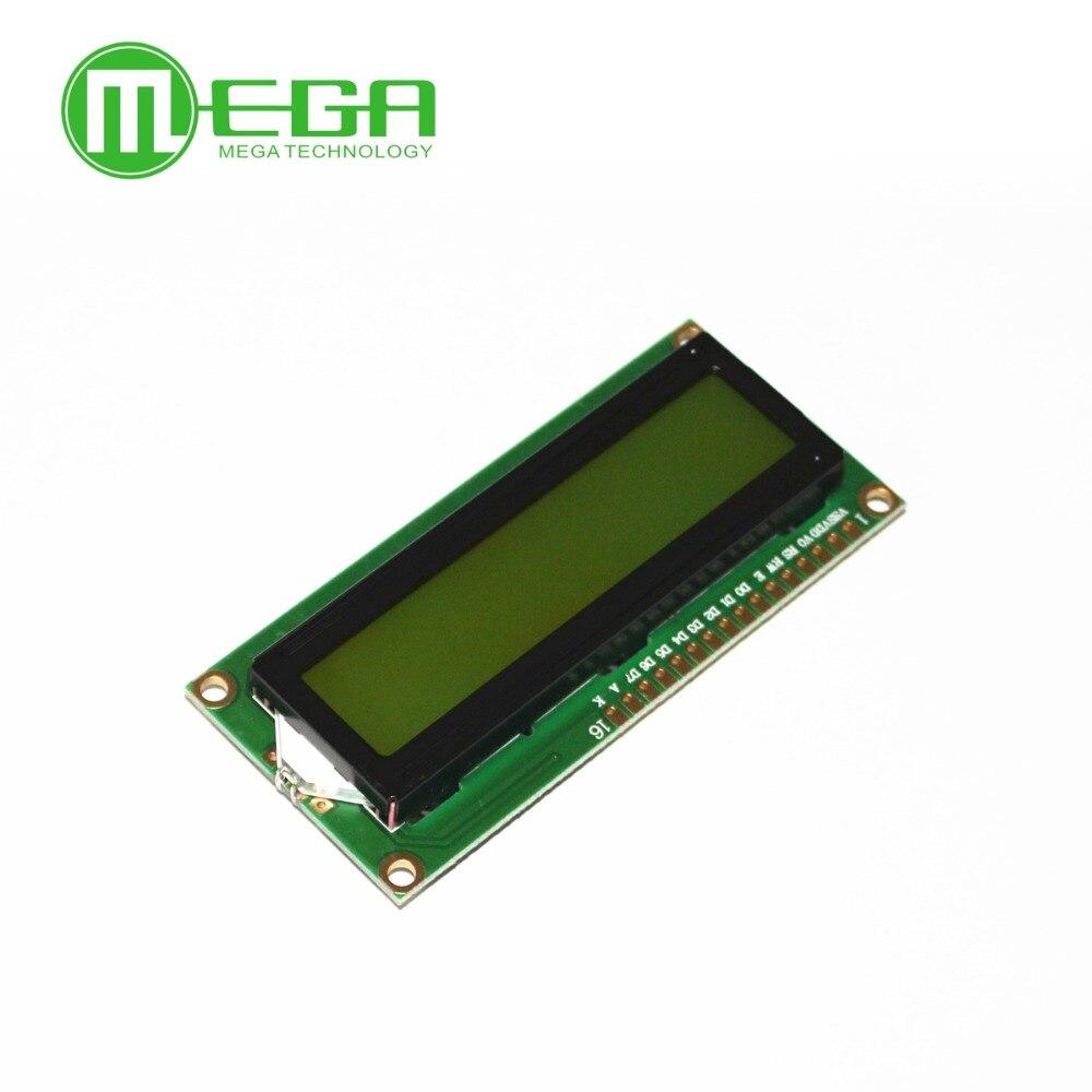 Lcd 1602 1602 Модуль синий/желто-зеленый экран 16x2 символьный ЖК-дисплей модуль