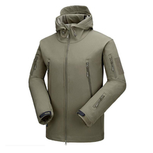 Military Tactical Jacket For Men Waterproof Hooded Coat Male Warm Sweatshirt Army Hunt Cloth Outerwear Top