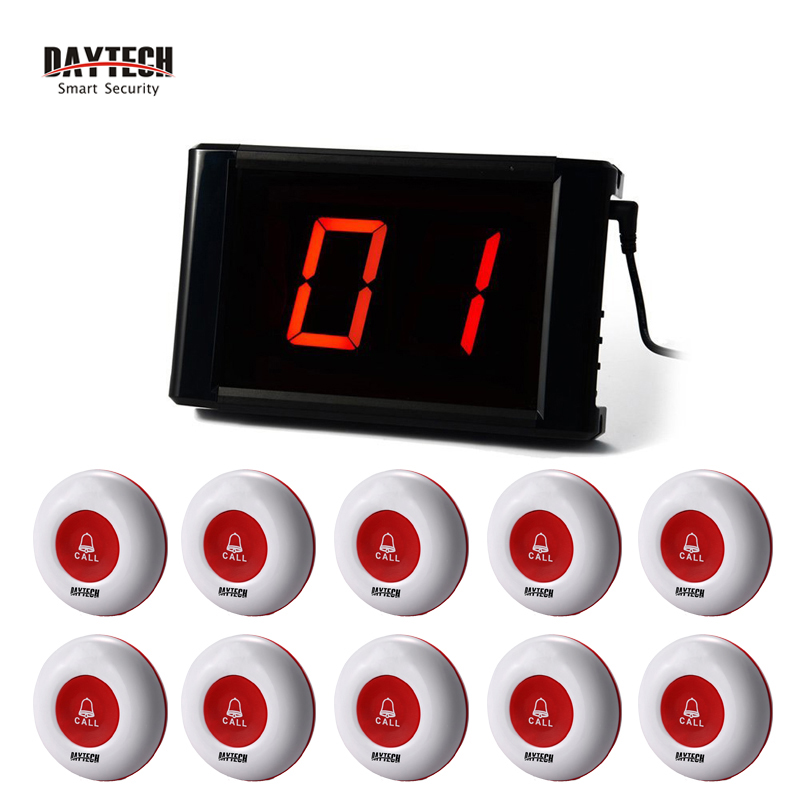 Restaurant Wireless Calling System Guest Pager System Waiter Call Button LCD Panel 433MHZ Table Buzzers 10pcs 433mhz wireless calling system call button for restaurant hotel waiter transmitter pager bell waterproof equipment f3256l