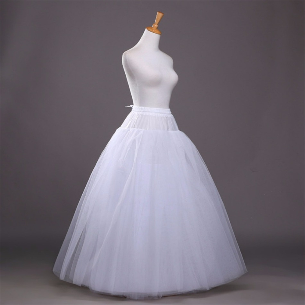 4 Layers Ball Gown Petticoats Womens White Hoopless Underskirt ...
