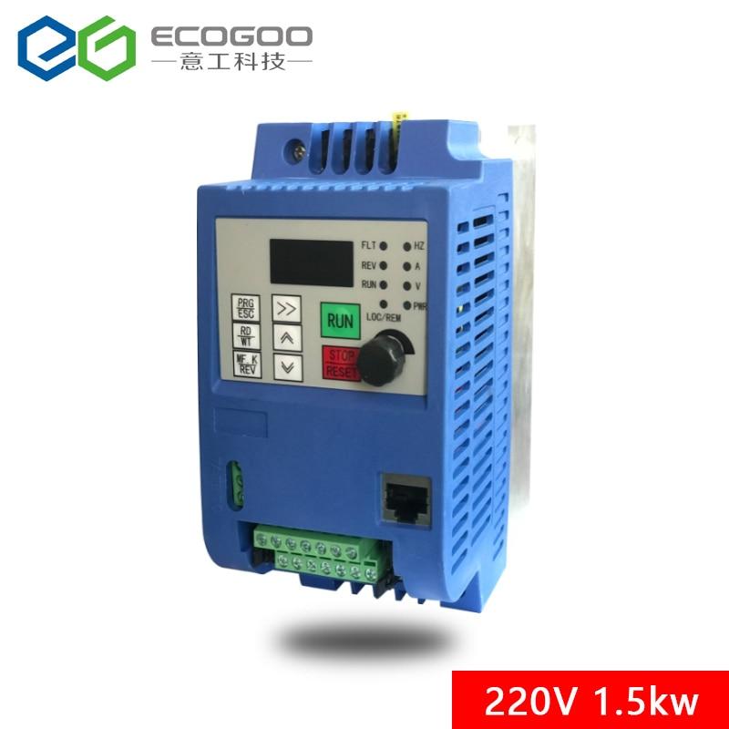1.5KW/2.2KW/4KW/220 V monophasé inverseur entrée VFD 3 phases sortie convertisseur de fréquence vitesse réglable 1500 W 220 V onduleur