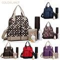 мода 6in1 пеленальный сумка для мамы / большая емкость многофункциональный сумка на коляску пеленки младенца пеленки мешок нейлона сумки для мам мешок bp048