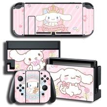 Vinil ekran cilt Sticker defne köpek Skins koruyucu çıkartmalar Nintendo anahtarı NS konsolu için + denetleyici + standı etiket
