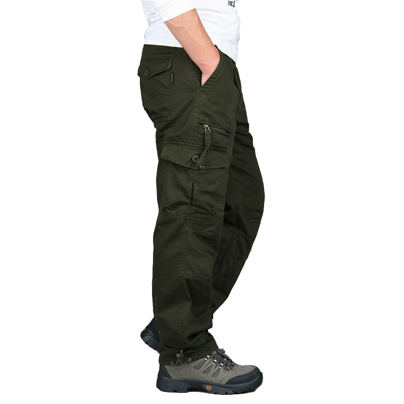 2019 Autumn Winter Mens Army Pants Straight Long Men Trousers Casual Streetwe tactical Pants Men Plus Size Pantalon Cargo Homme in Cargo Pants from Men 39 s Clothing