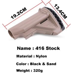 Image 5 - Anti Slip 416 Nylon Stock Minimalist Tactical Rife Mil spec For Gel Blaster Paintball Airsoft Air Guns Accessories