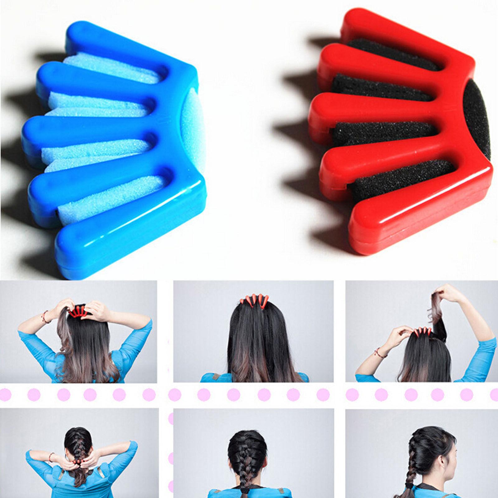1pcs Diy Sponge Hair Braider Plait Hair Twist Braiding Tool Hair