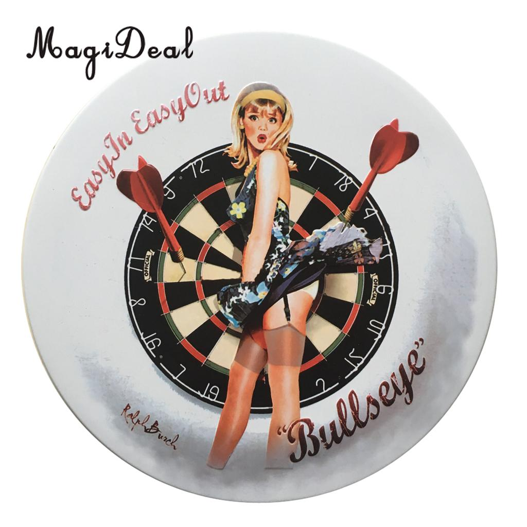 MagiDeal Vintage 16 Styles Target Plate Iron Metal Spotted Round Tin Sign Plaque Home Cafe Decoration Accessories