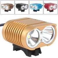 3000Lm 방수 크리 XM-L2 LED 자전거 빛 자전거 램프 & 헤드 긴/짧은 범위 + 8800 미리암페르하우어 배터리