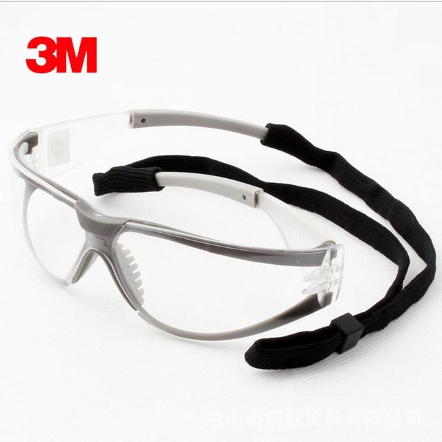 3M 11394 Veiligheid Glazen Goggles Anti Fog Antisand Winddicht Anti Dust Slip Transparant Glazen Beschermende Werken Eyewear