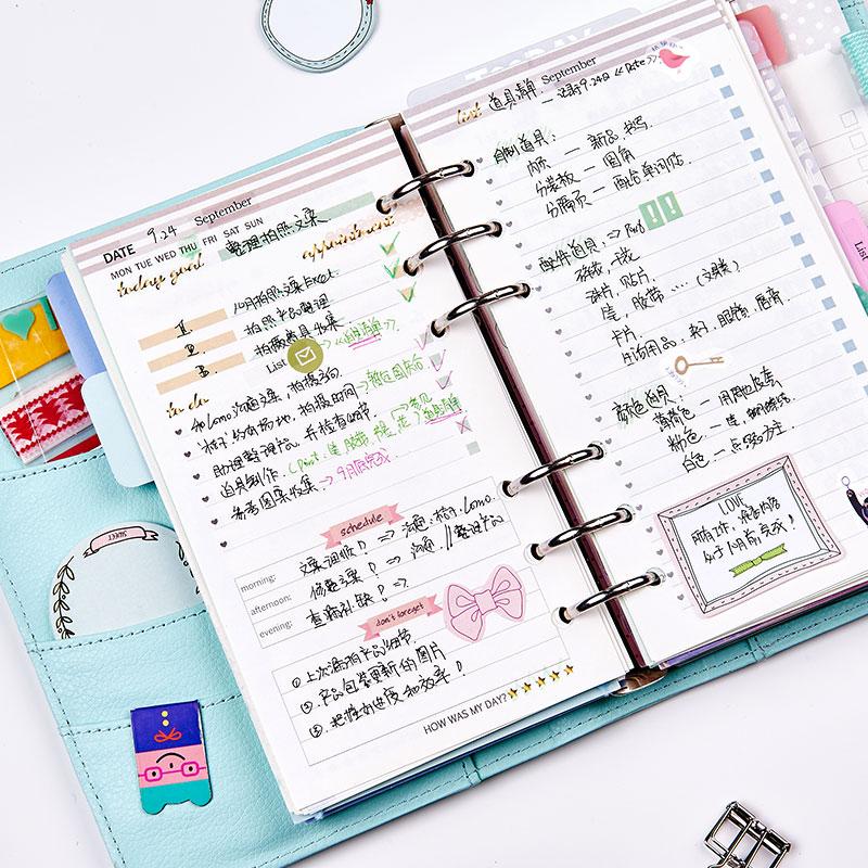 Dokibook Notebook Spiral Planner 6 Delikli Yarpaq A5 və A6 Cədvəli - Qeyd kitabçaları - Fotoqrafiya 4