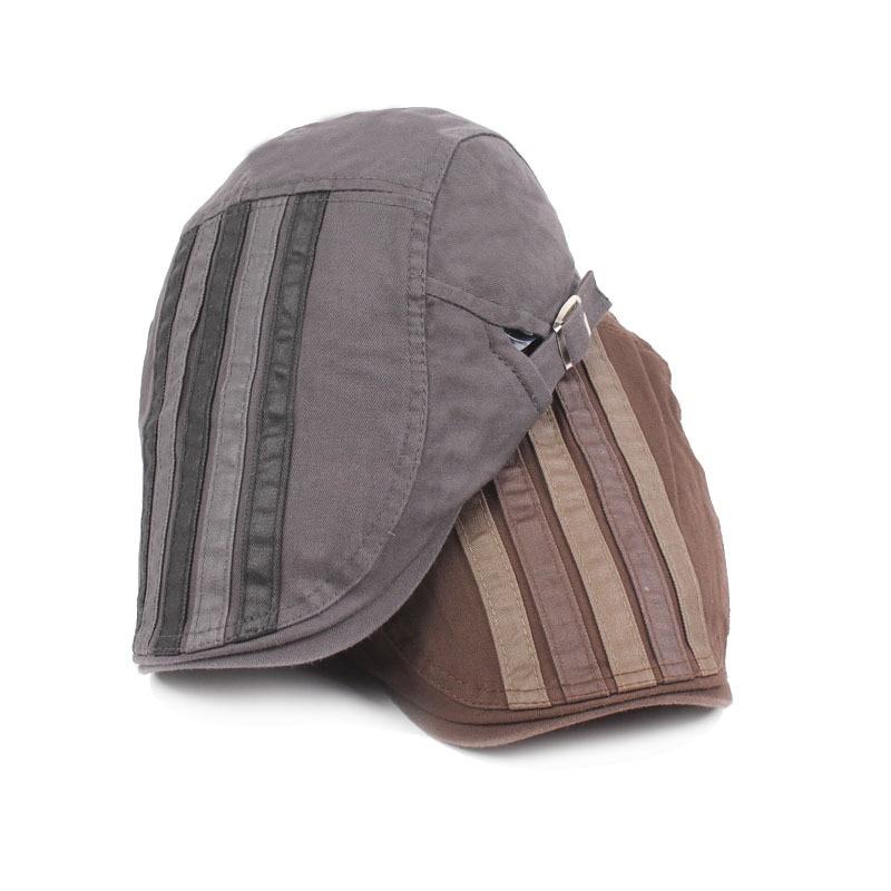 Adult Unisex Berets Cap Adjustable Stripe Cotton Duckbill Newsboy Hat for Men Woman S-199