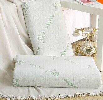 Orthopedic latex 50*30cm neck pillow fiber white slow rebound memory foam pillow...