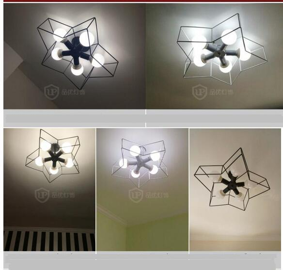 Ceiling Lights Simple Creative Star lighting modern personality led bedroom ceiling lamps children tenants hall lamps FG921