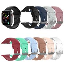New 10 Colors Silicone Watchband Strap For Apple Watch Series 1234 38MM 40MM 42MM 44MM Replacement Sport Iwatch