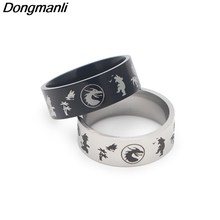 DMLSKY Dragon Ball Z M men fashion punk rings Stainless Steel Ring Lover Rings Jewelry party gift M2897