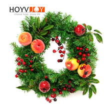 HOYVJOY Christmas Decorations For Home Artificial Apples Wreaths Garlands Festival Party Supplies