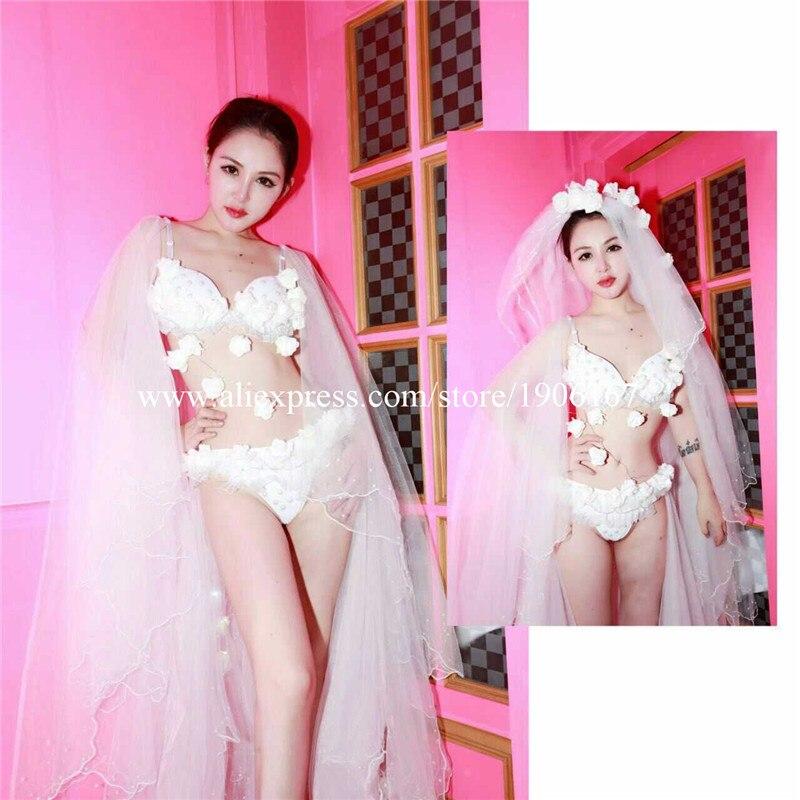 Nouveau Design Led Sexy fille femmes soutien-gorge robe ailes vêtements spectacle scène Performance Sexy robe livraison gratuite - 5