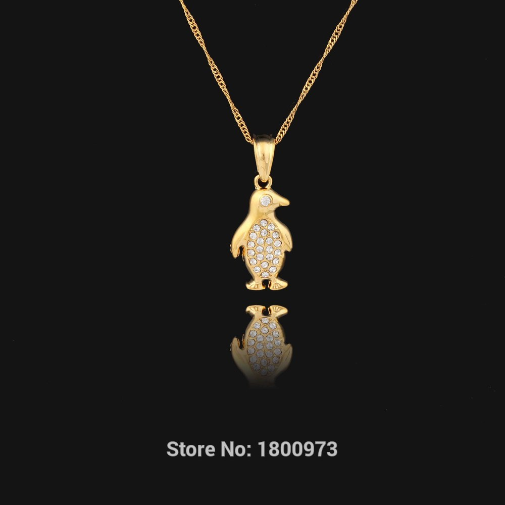Gold color zircon fashion jewelry lovely penguin pendant jewelry gold color zircon fashion jewelry lovely penguin pendant jewelry trendy animal pendant necklace for women in pendants from jewelry accessories on aloadofball Choice Image