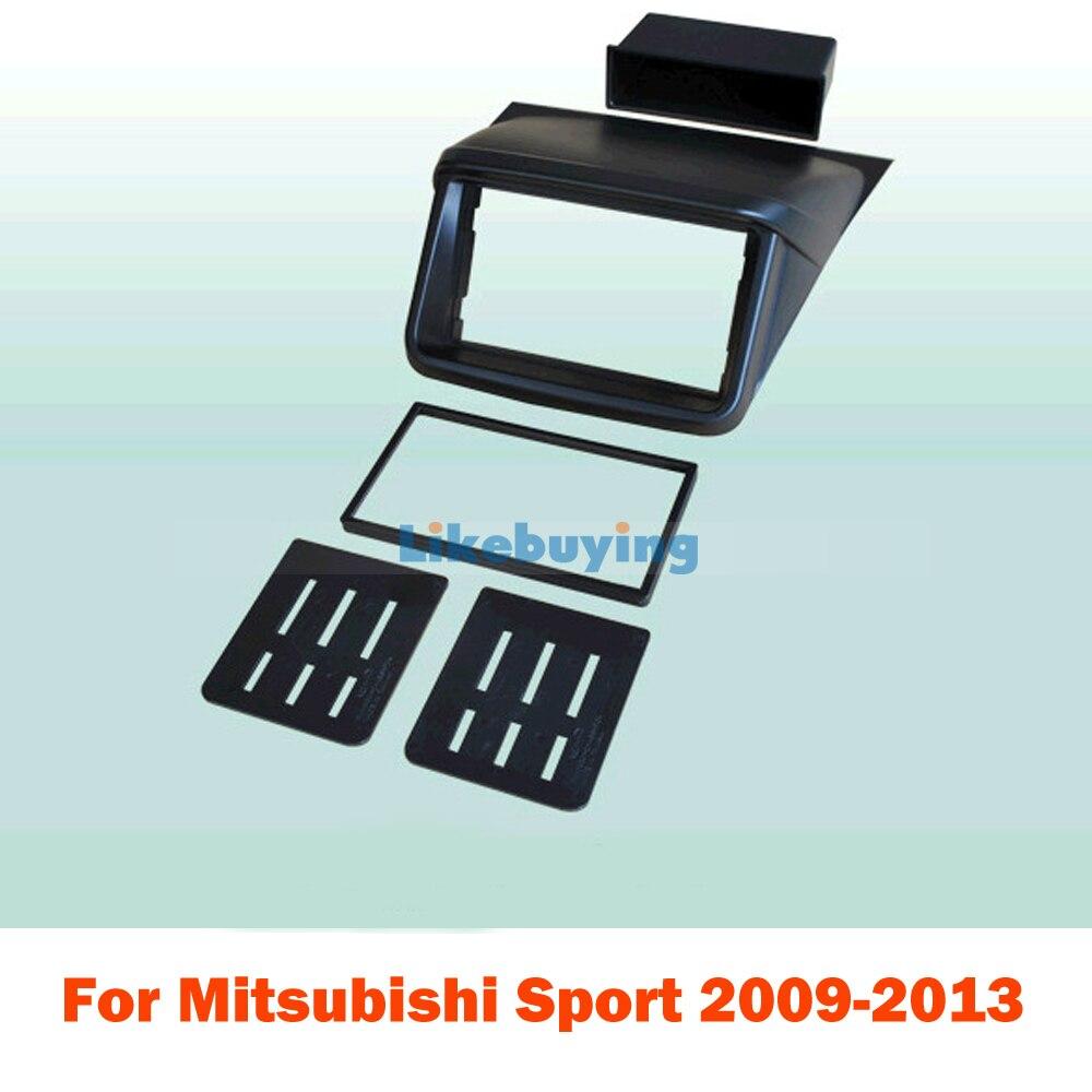 Pour 177*99.6mm 2 Din voiture cadre tableau de bord Kit/voiture Fascias pour Mitsubishi Sport 2009 2010 2011 2012 2013
