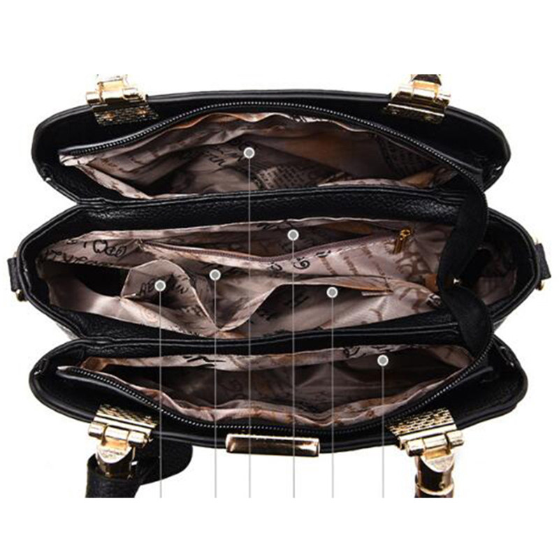 Image 5 - Hot Sale Leather Women Bag Tree Branches Metal Decor Handbags Lady Shoulder Crossbody Messenger Bag Female Purse Tote-in Shoulder Bags from Luggage & Bags