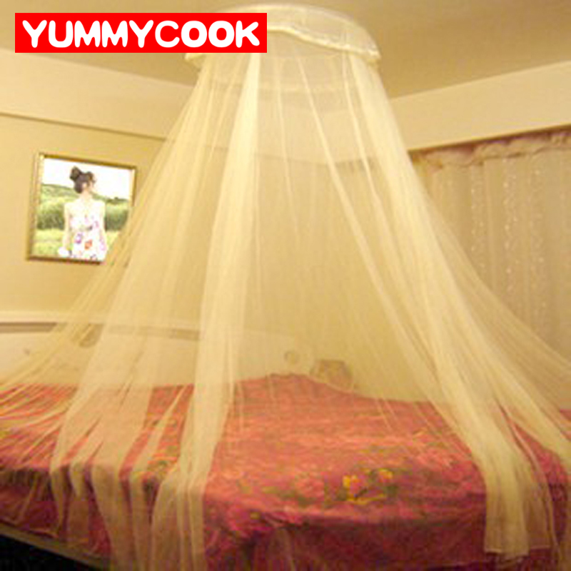Elegante Hung Dome mosquiteros para verano Malla tela de poliéster textiles para el hogar al por mayor accesorios suministros productos