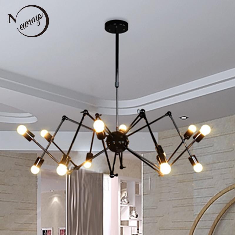Art Deco Modern Spider Pendant Lights With 6/8/10/12 Heads Adjustable E27 Led For Restaurant Bar Cafe Office Bedroom Living Room